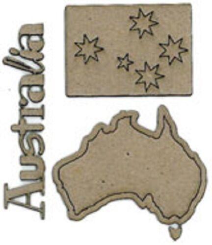 Choose from 15 design Aussie SCRAP FX Chipboard /'AUSTRALIAN/' Embellishments