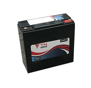 TN Power 12V 24Ah Lithium Batterie pour Loisir Mobilité Golf Caravane (22Ah)