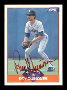 Rey Quinones Autographed Signed 1989 Score Card #361 Seattle Mariners 188247