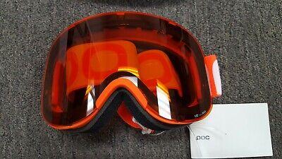 POC Lid Ski Snowboard Goggles Pocito Retina Zink Sonar Orange Google