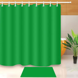 Image Is Loading 72x72 039 Solid Green Bathroom Shower Curtain