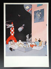 Rare carte postale Tintin Sombras 1985 Joan Pere ETAT NEUF