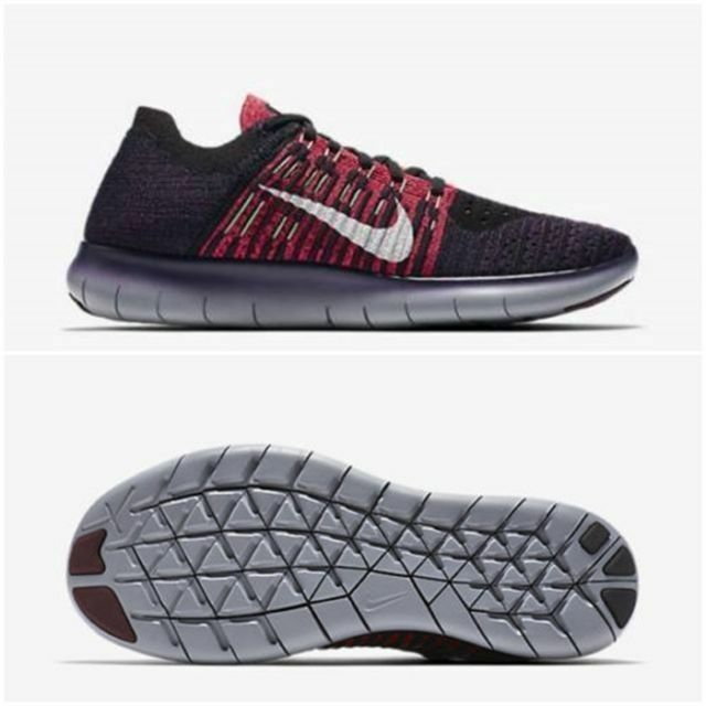 NIKE FREE RN FLYKNIT Men's Running Shoes NEW. MSRP 130. 831069 603 Night Maroon