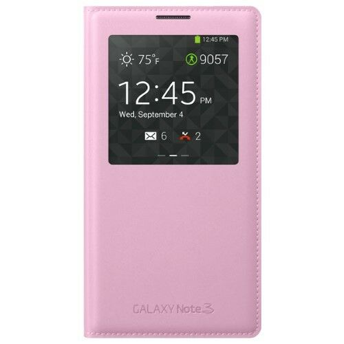 the best attitude dc76b 9c436 Samsung Galaxy Note 3 Case S View Flip Cover Folio - Soft Pink