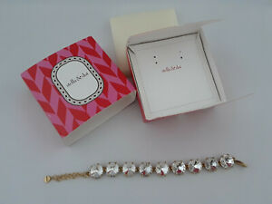Stella-and-Dot-Amelie-Sparkle-Bracelet-In-Gold-With-Clear-Rhinestones-J159
