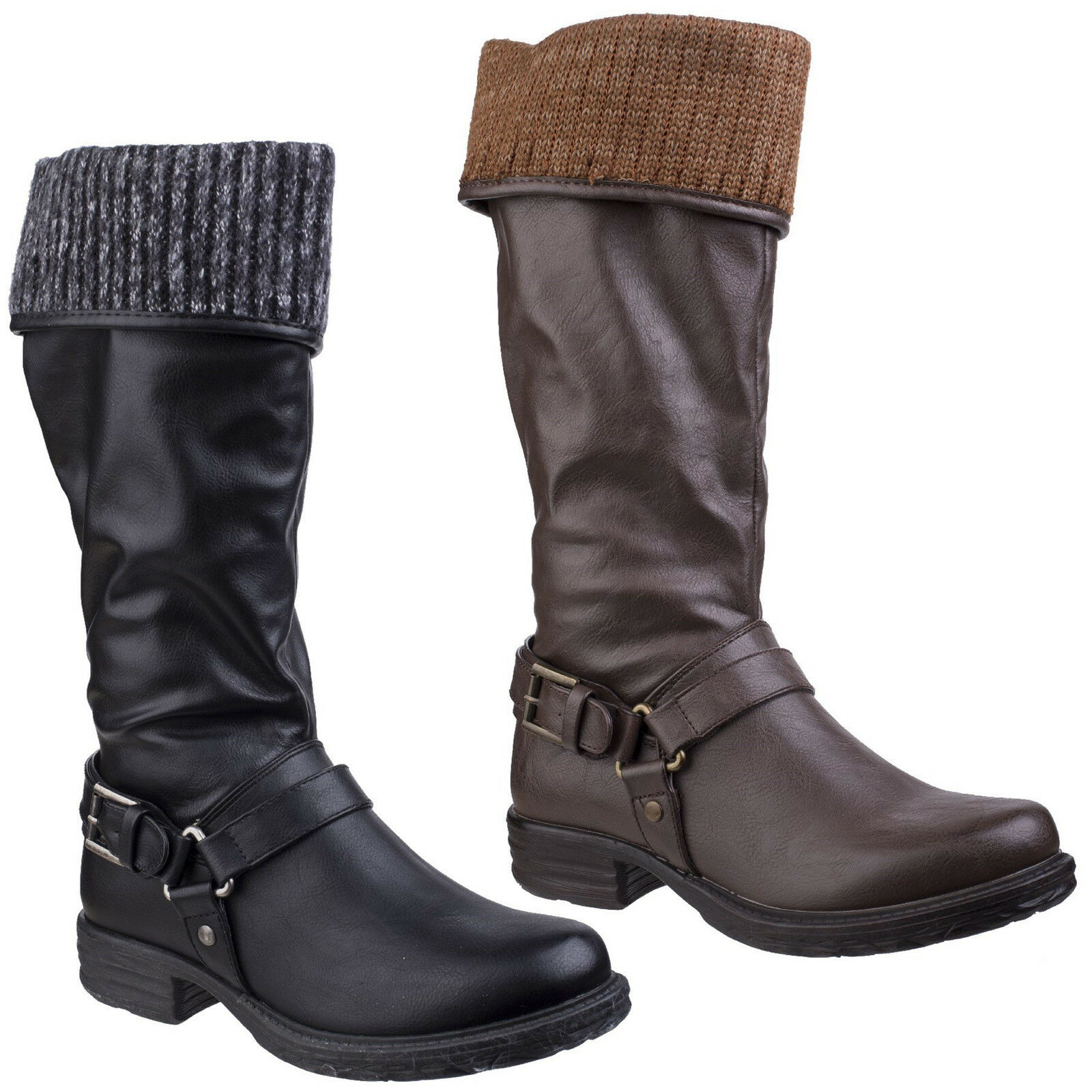 Divaz Monroe Alto botas Largas Cremallera Cremallera Cremallera Hasta Tacón Alto Zapatos De Mujer De Moda Para Damas  compras online de deportes