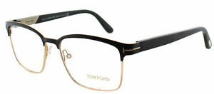 e28b65c32243 Authentic Tom Ford FT 5323 002 Matte Black And Gold Square Metal ...