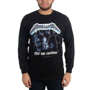 Image is loading Metallica-RIDE-THE-LIGHTNING-Long-Sleeve-T-Shirt-  sc 1 st  eBay & Metallica RIDE THE LIGHTNING Long Sleeve T-Shirt 100% Authentic ...