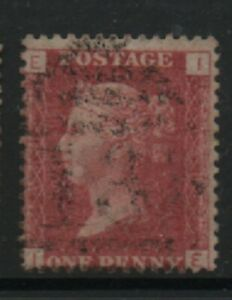 GB-1858-79-Penny-Red-SG43-Plate-number-140-IE-good-used-stamp