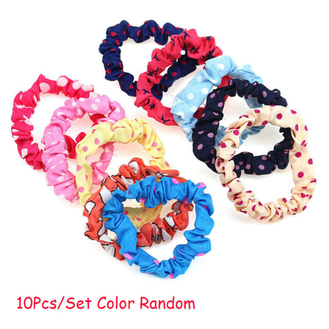 10pcs Women Lady Girl Elastic Rubber Hair Ties Band Rope Ponytail Holder Set un