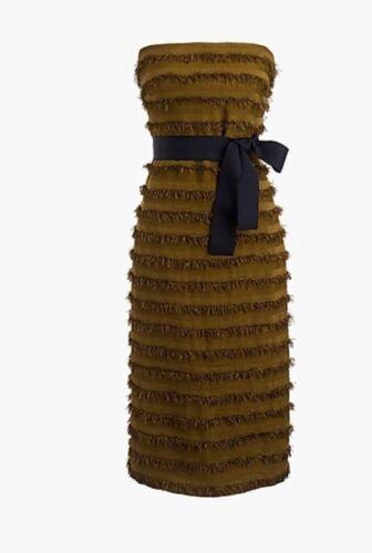 J.Crew Collection Strapless Striped Raffia Dress S