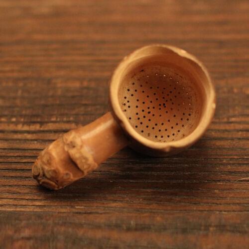 Infuseur en Bambou Passoire Maille Thé Filtre Cuillere Epice Tasse Cuisine