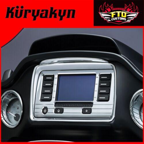Kuryakyn Chrome Tri-Line Stereo Trims for /'15-/'17 Road Glide 6966