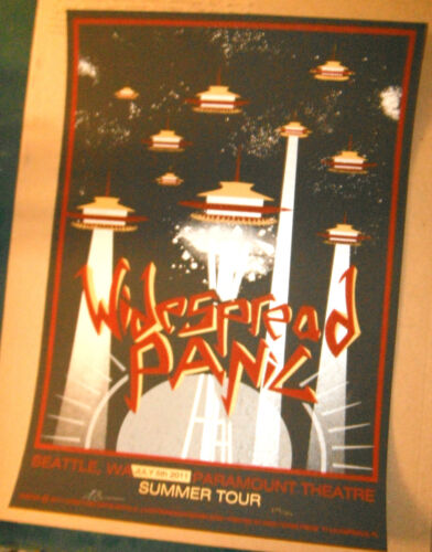 2011 WIDESPREAD PANIC SEATLLE SPACE NEEDLE 11 CONCERT TOUR POSTER 7/5 WA S/N MNT
