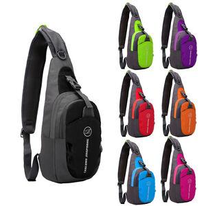 Outdoor Chest Shoulder Bag Sport Running Messenger Backpack Waterproof Nylon New