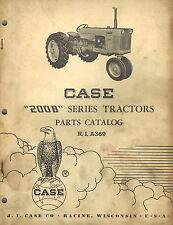 Case Vintage 200b Series Tractor Parts Manual 1961 A369