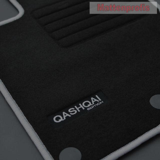 Fußmatten für Nissan Qashqai II J11 2013 Velours Autoteppiche Stoffmatten Set