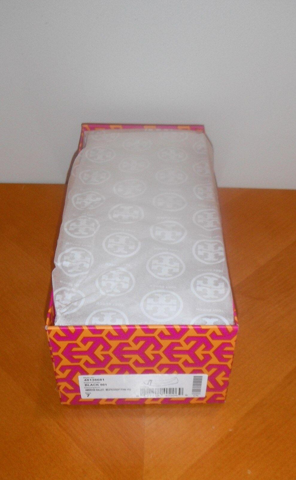 Tory Burch Ambrosa Ballet Flat Flat Flat nero 001 Ballerina BRAND NEW BOX FRESH PAIR 8651ed