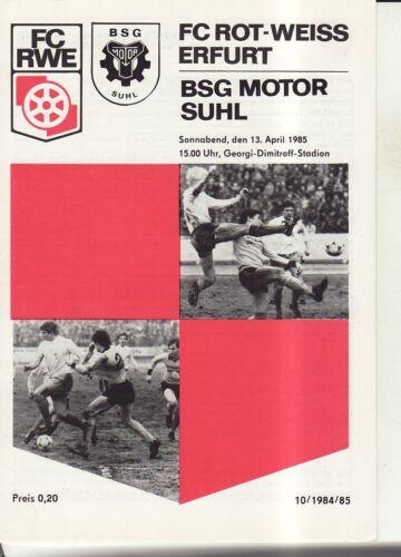 BSG Motor Suhl OL 84//85 FC Rot-Weiß Erfurt
