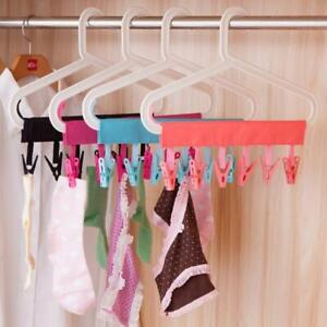 Cloth-Hanger-Socks-Underwear-Clothes-Clip-Foldable-Travel-Bathroom-Rack-Peg-Home
