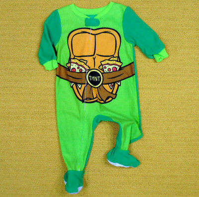 TMNT Toddler Little Boys Footed Blanket Sleeper Pajama