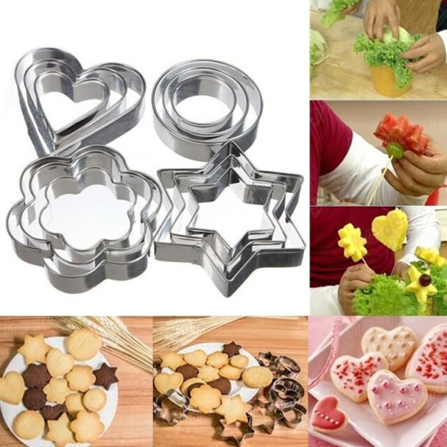 3pcs Stainless Steel Biscuit Pastry Cookie Cutter Fondant Cake Decor Mould Tool