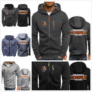 Cincinnati-Bengals-Football-Hoodie-Men-039-s-Sweatshirt-Football-Training-Hooded