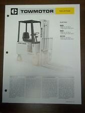 Caterpillar Lift Truck Brochure~M20/M25/MC30 Electric Fork Lift~Specifications
