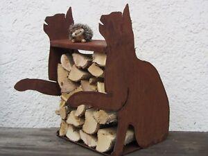 Katze-Holzregal-Katzen-kein-Herz-rostig-Kater-Edelrost-Rost-Garten-Geschenk-Idee