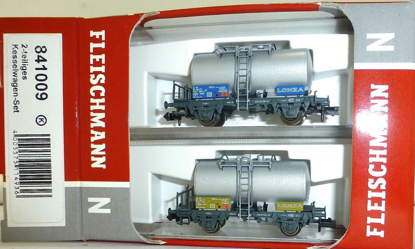 SBB lonza 2tlg vagones set Fleischmann 841009 n 1 160 OVP nuevo hq3 µg