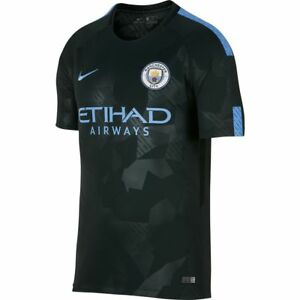 883b18f9884 Nike Manchester City Season 2017 2018 Third Soccer Jersey Black Kids ...