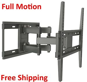 full motion tilt tv wall mount fits most 32 55 inch led lcd up to vesa 400x400 646437731836 ebay. Black Bedroom Furniture Sets. Home Design Ideas