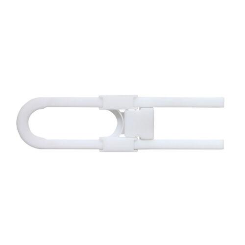 Design61 Schranktür Sicherung Schubladensicherung Sicherheitsriegel 1 St Weiß