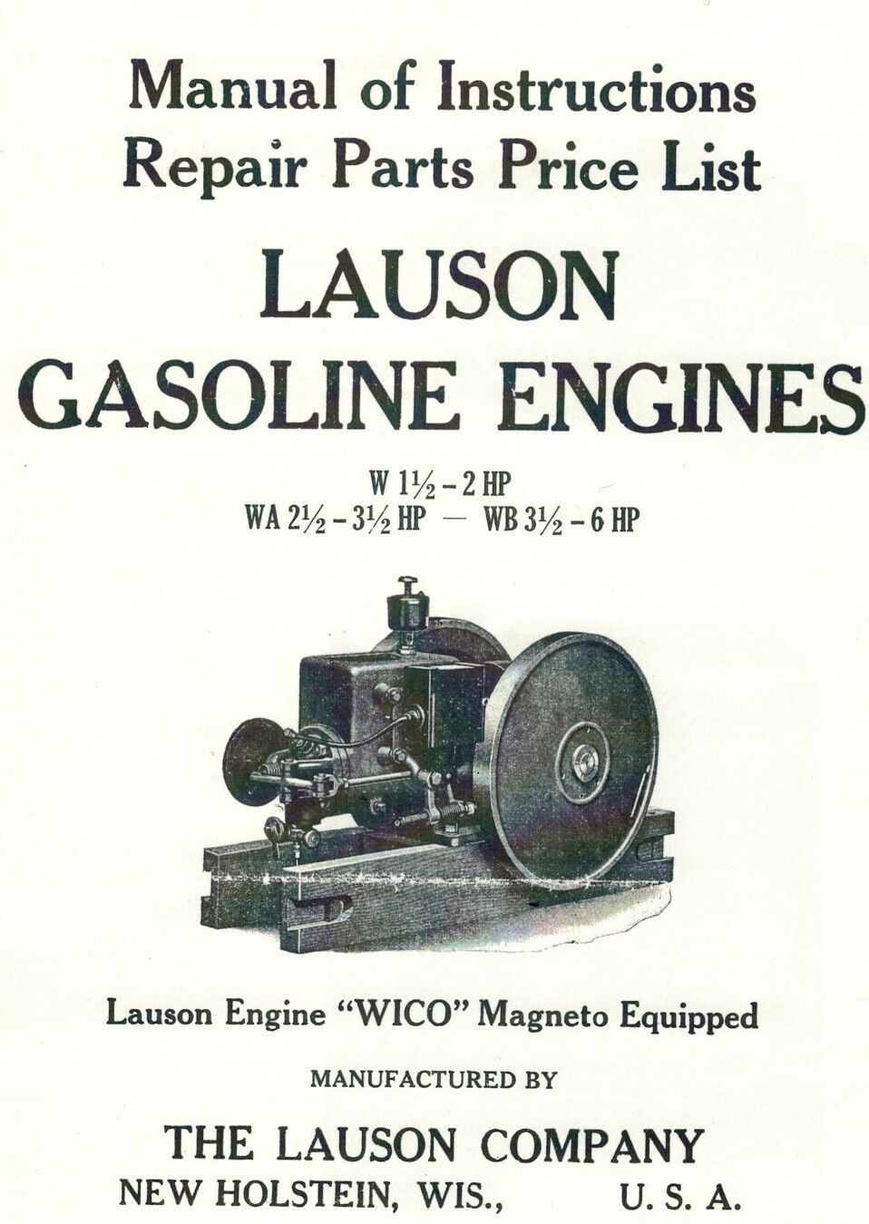 Lauson Gas Engine Motor Instruction Manual Parts List Wico Magneto Wiring Schematic Norton Secured Powered By Verisign