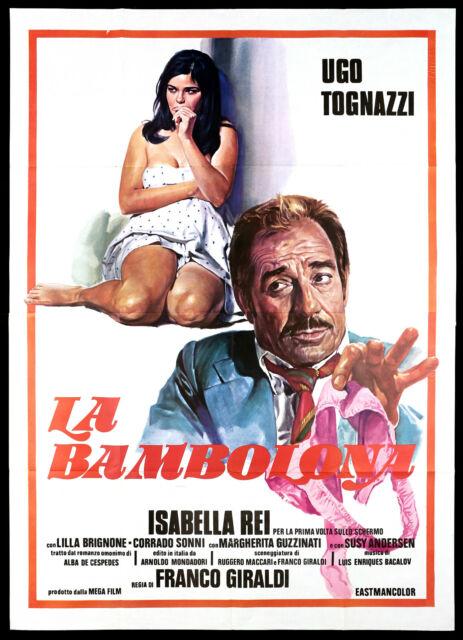 LA BAMBOLONA MANIFESTO CINEMA UGO TOGNAZZI ISABELLA REI SEXY 1968 POSTER 4F