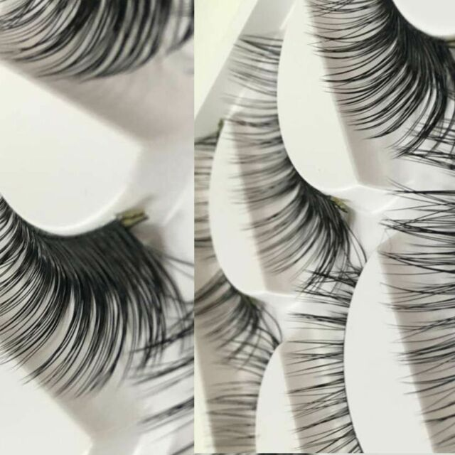 Mink Cross Beauty Hot Thick Pro 5Pairs 3D Natural Eye False Eyelashes Makeup