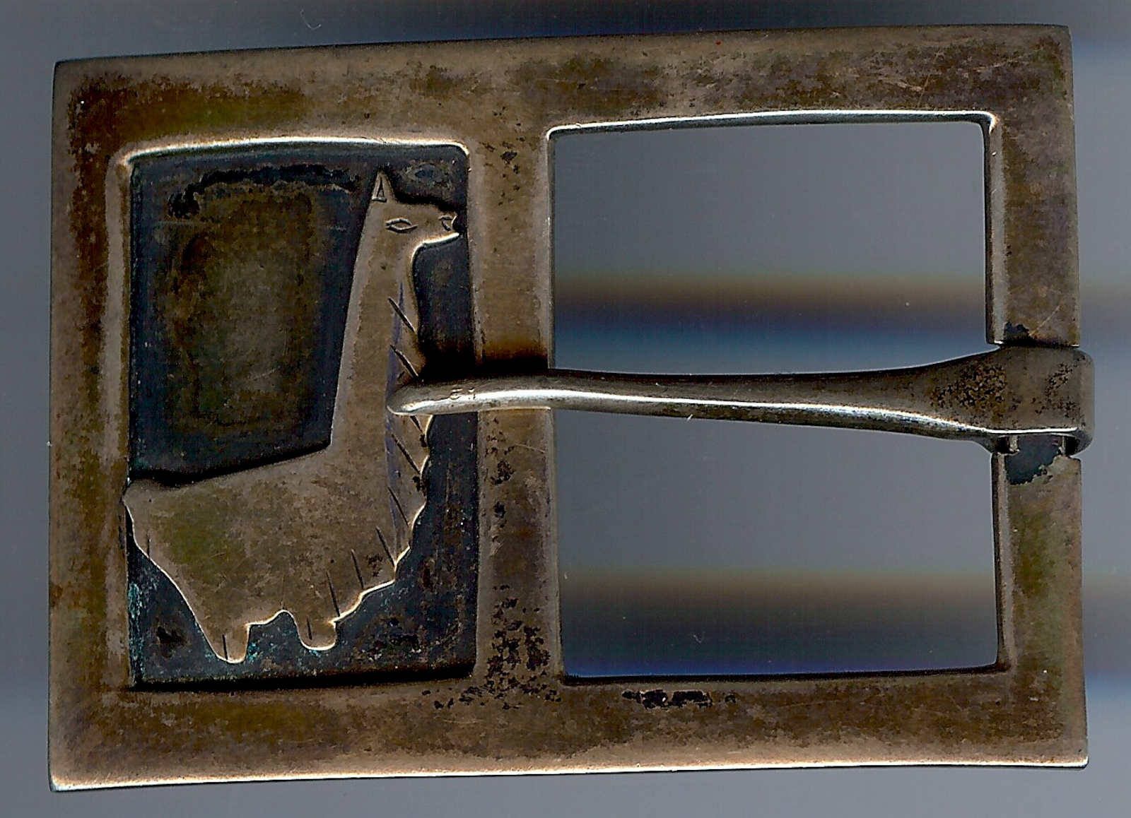 Vintage Laffi Laffi Laffi Perù argentoo Sterling Lama Fibbia Della Cintura 39d8b9