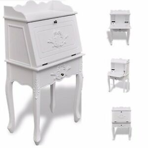 Antique Writing Desk Furniture Office Shabby Chic Vintage White ...