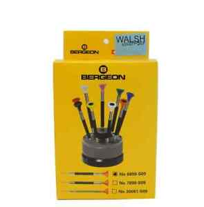 Bergeon-6899-S09-Acero-Inoxidable-Ergonomico-9-Piece-Set-Destornilladores