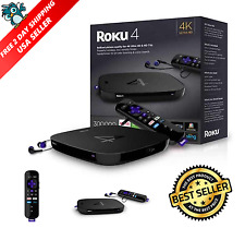 Roku 4 Streaming Media Player (4400R) 4K UHD, New In Box, Fast Shipping