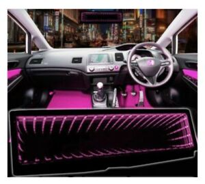 GALAXY ILLUISON  MIRROR LED LIGHT CLIP-ON REAR VIEW WINK REARVIEW PINK
