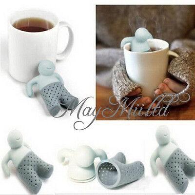 Mr.Tea Infuser Silicone Tea Leaf Strainer Herbal Spice Filter Diffuser Sales H