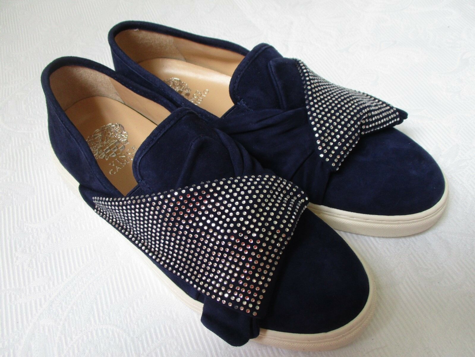 VINCE CAMUTO BARITA blueE SUEDE RHINESTONE SNEAKERS SIZE 6 6 6 M - NEW 6d763d