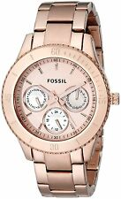 Fossil Women's ES2859 Stella Multi-Function Rose Gold-Tone Stainless Steel Watch