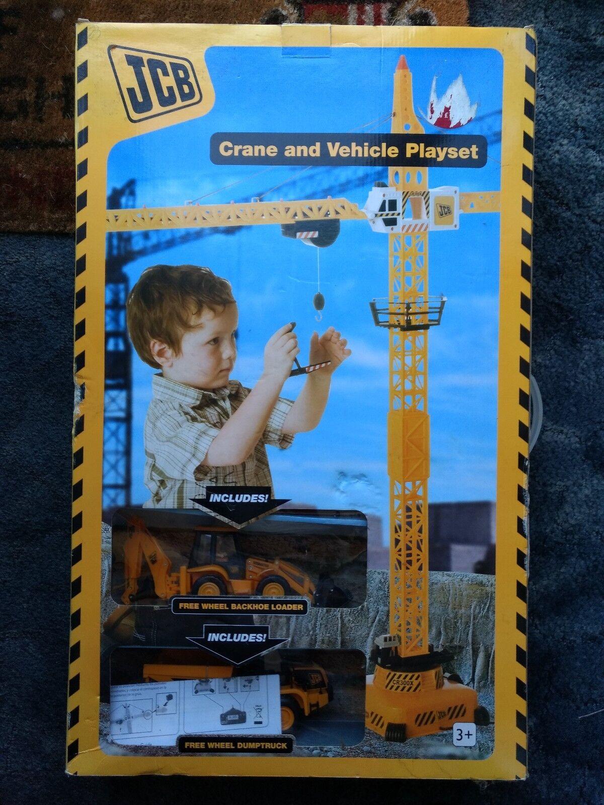 JCB Crane And Vehicle Playset.BNIB