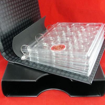 Model H LH Coin Capsule Album w//Slip Case /& 6 Encap Pages for OD up to 45mm