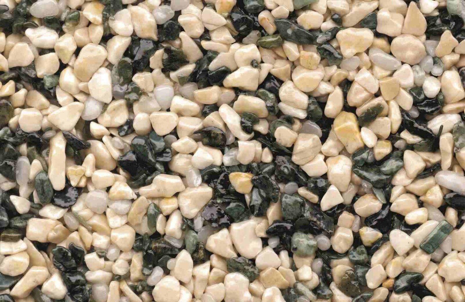 Komplettset 2,5m² Steinteppich Mix Mix Mix Nature+Grundierung+Versiegler  innen+Binder 5de332