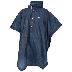 Trespass-ADULTOS-Hombre-Mujer-Azul-Marino-Canopy-Packaway-Festival-Poncho-de-lluvia-TP420