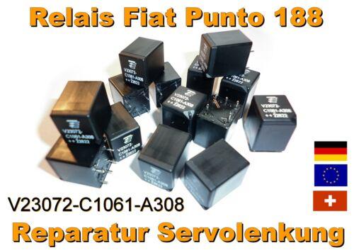 Fiat Punto 188 Servo TYCO Relais V23072-C1061-A308 Servomotor LENKUNG Reparatur