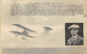 CPA-AVIATION-GRANDE-SEMAINE-D-039-AVIATION-MIGNOT-SUR-BIPLAN-VOISIN-FRERES